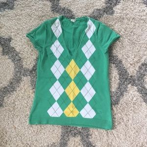 J.Crew Argyle T-Shirt Sweater
